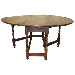 Beautiful French 18th Century Drop-Leaf Table