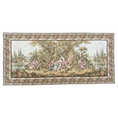 Beautiful French Aubusson Style Jaquar Tapestry