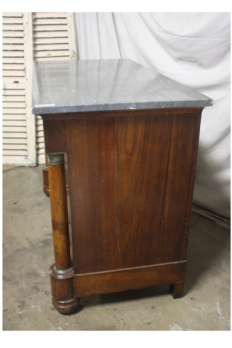 Marquetry Beautiful French Empire Commode For Sale