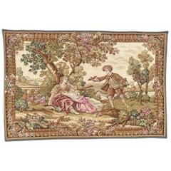 "Beautiful French Jaquar Halluin Tapestry ""L'oiseleur"""