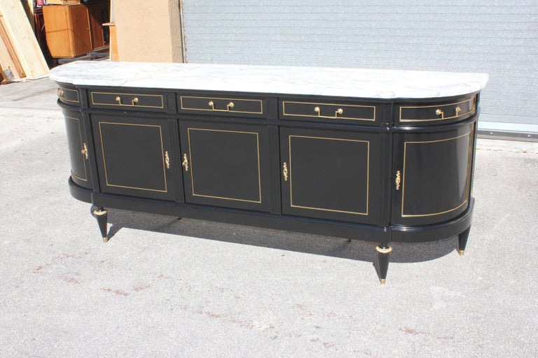 French Beautiful Antique Sideboard or Buffet, circa 1910s For Sale