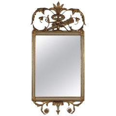 Beautiful French Louis XVI Style Gold Gilt and Painted Mirror
