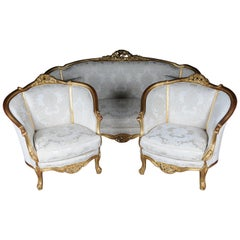 Beautiful French Salon Seating Group / Seating Set in Louis XV Style, 20th Centu