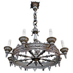 Beautiful French Solid Bronze Chandelier