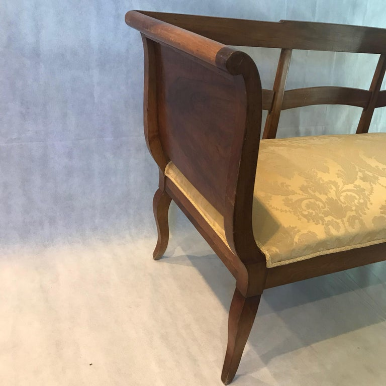 Directoire Beautiful French Walnut Sofa Loveseat For Sale