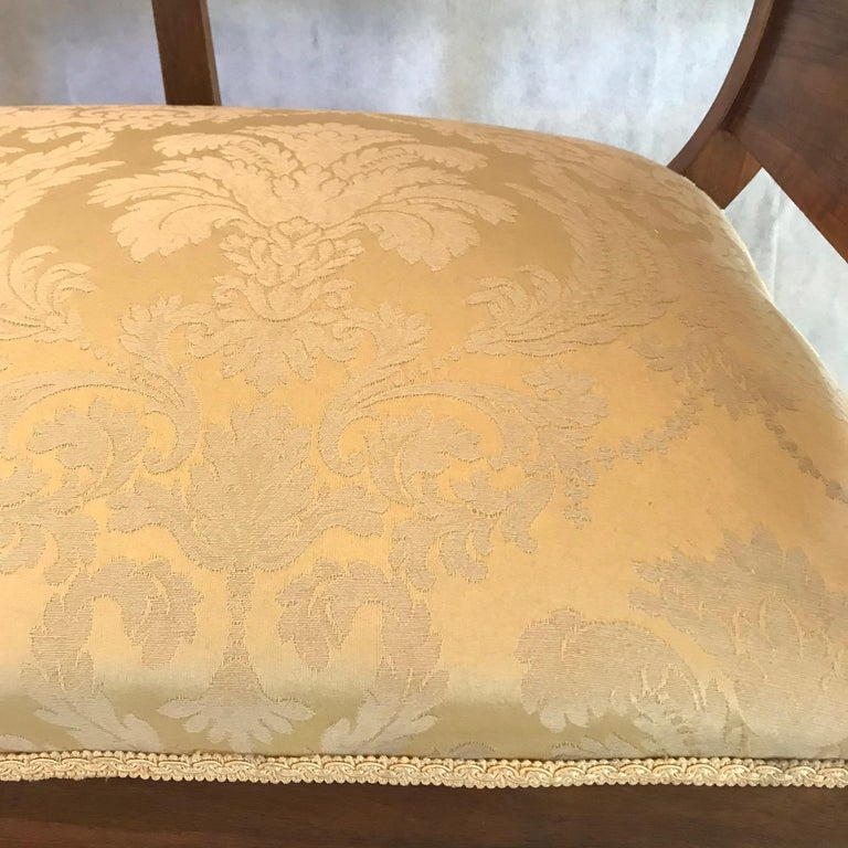 Beautiful French Walnut Sofa Loveseat In Excellent Condition For Sale In Hopewell, NJ