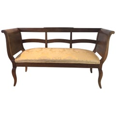 Beautiful French Walnut Sofa Loveseat