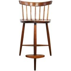 Beautiful George Nakashima Mira Stool Chair Solid walnut hand made Studio Craft