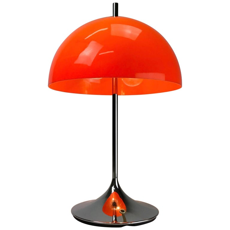 Beautiful German E Age Table Lamp By Wila For