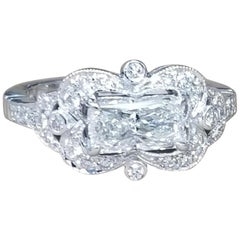 14k white gold setting diamond ring