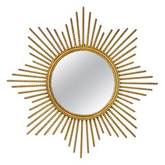 Beautiful Gild Metal Sunburst Mirror