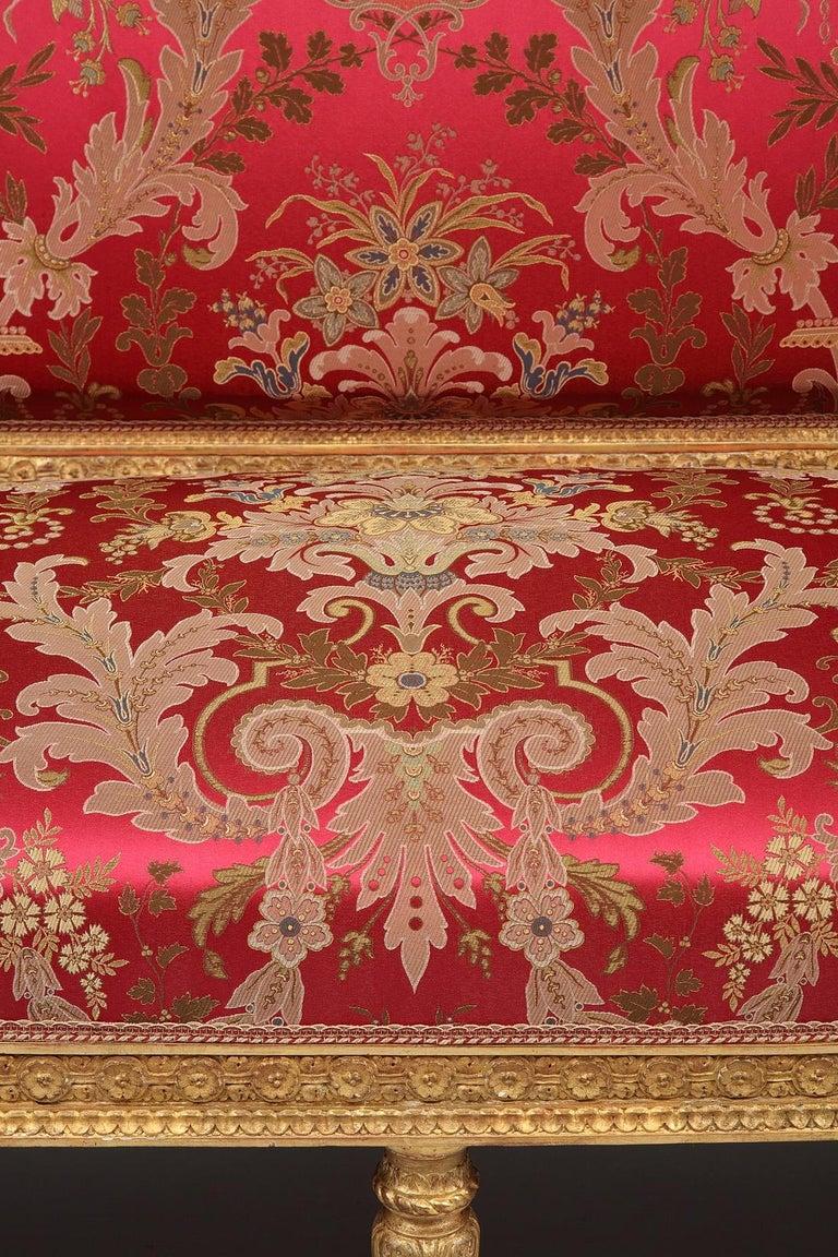 Late 19th Century Beautiful Giltwood Louis XVI style Sofa For Sale