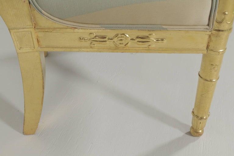 Beautiful Gold Gilt Armchair, circa 1880-1900 For Sale 3