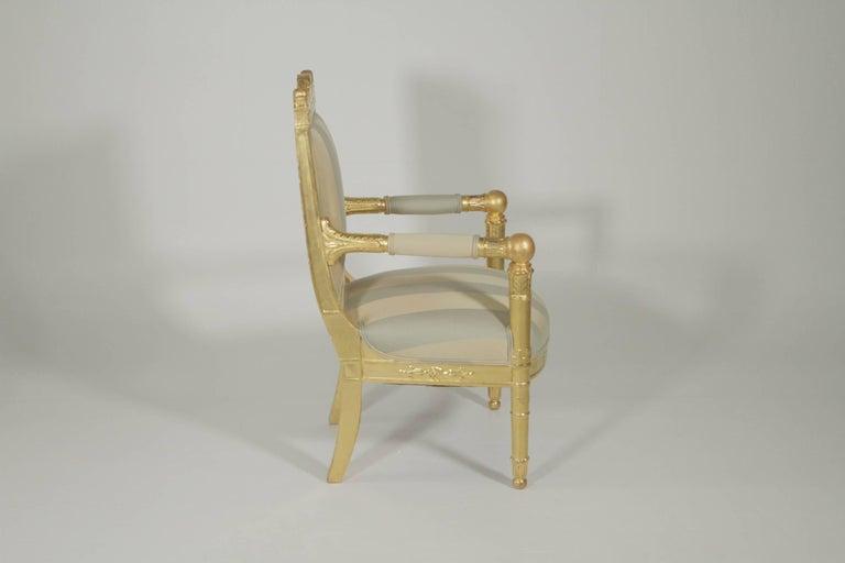 Renaissance Revival Beautiful Gold Gilt Armchair, circa 1880-1900 For Sale