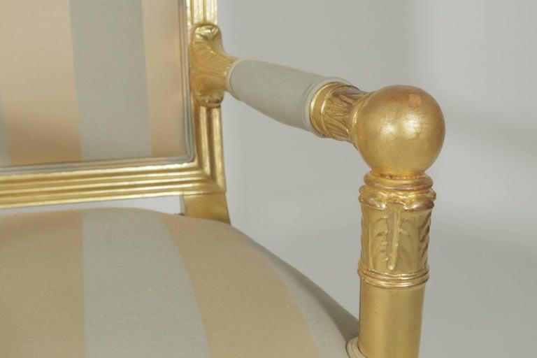 Late 19th Century Beautiful Gold Gilt Armchair, circa 1880-1900 For Sale