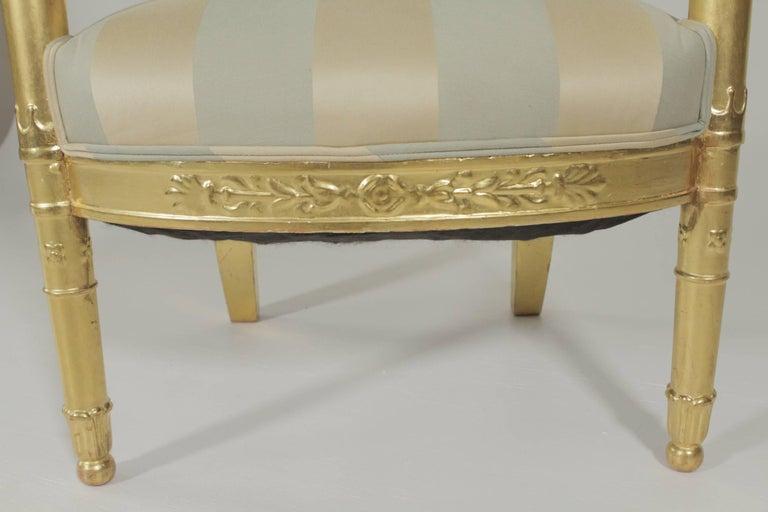 Beautiful Gold Gilt Armchair, circa 1880-1900 For Sale 1