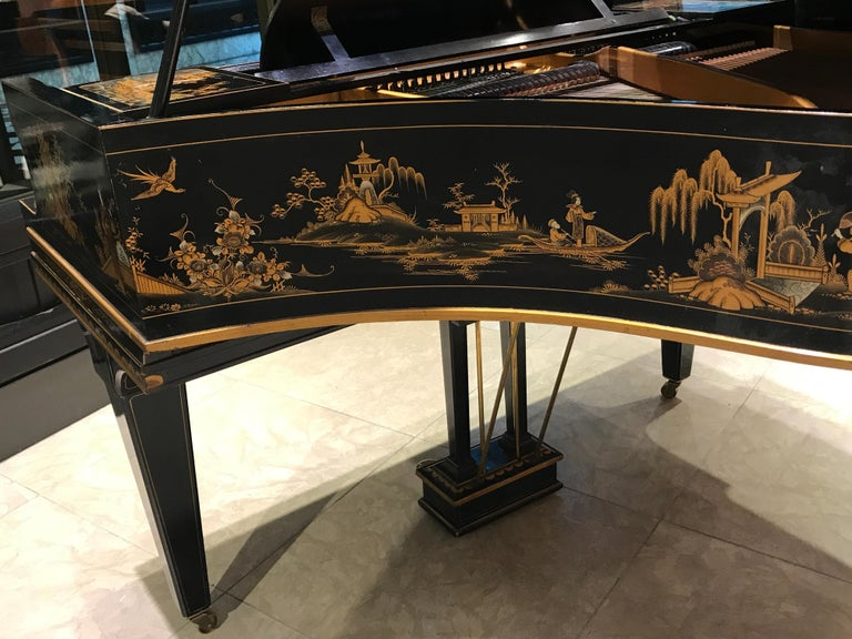 Baby Grand Piano, Art Deco with Chinoiserie Fairytale For Sale 7