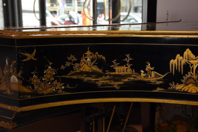 Baby Grand Piano, Art Deco with Chinoiserie Fairytale For Sale 1