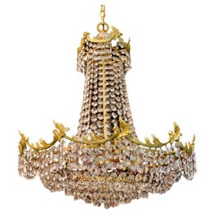 Beautiful Hollywood Regency Crystal Chandelier