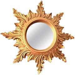 Beautiful Italian Starburst Sunburst Mirror circa 1980s Made in Italy