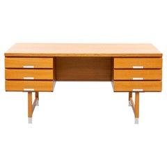 Beautiful Kai Kristiansen Writing Desk Modell EP401 in Oak, Made by Feldballes