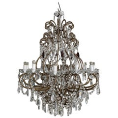 Beautiful Large 1920s French Chandelier