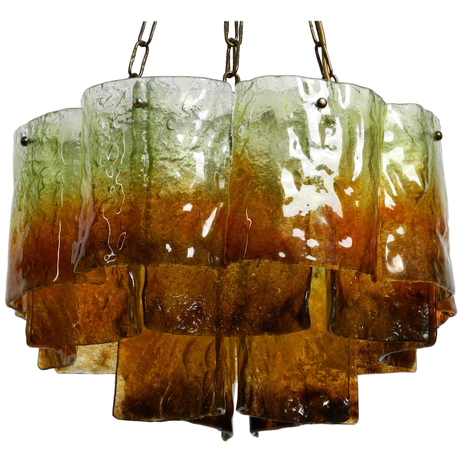 Beautiful Large 1960s Italian Murano Glass Chandelier