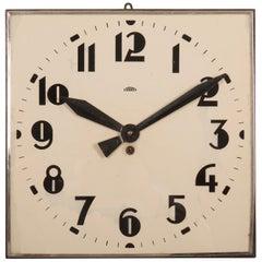 Beautiful Large Bauhaus Wall Clock by Prim