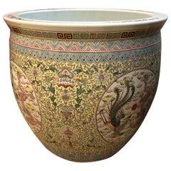 Beautiful Large Ceramic Chinese Planter