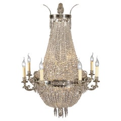 Beautiful Large Chandelier in the Biedermeier Style