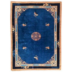 Beautiful Large French Chinese Style Knotted Rug