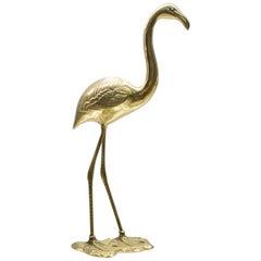 Beautiful Large Mid-Century Modern Brass Flamingo, Germany, 1960s