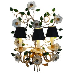 Beautiful Large Single Wall Sconce Maison Baguès Attributed, France, circa 1950s