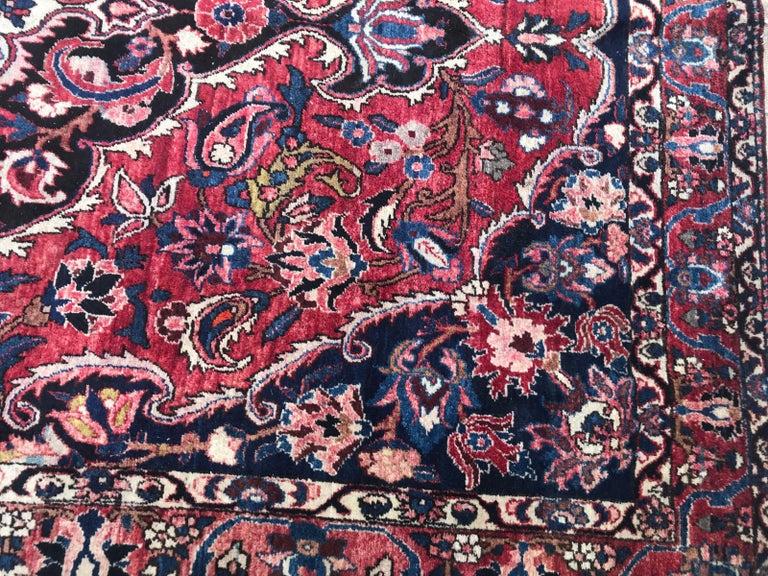 Kashan Beautiful Large Vintage Bakhtiar Rug