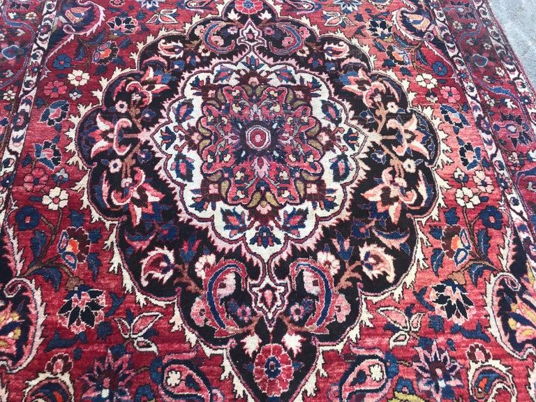 Hand-Knotted Beautiful Large Vintage Bakhtiar Rug