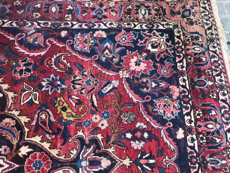 Wool Beautiful Large Vintage Bakhtiar Rug