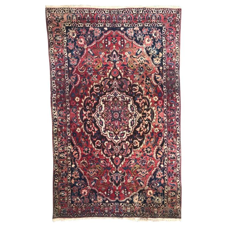 Beautiful Large Vintage Bakhtiar Rug