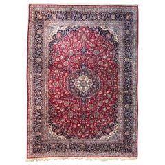 Beautiful Large Vintage Kashan Rug