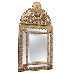 Beautiful Late 19th Century French Richly Decorated Brass Mirror