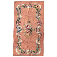 Beautiful Little Antique Aubusson Tapestry