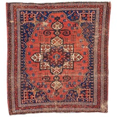 Beautiful Little Antique Distressed Rug