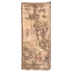Beautiful Little Antique French Jaquar Tapestry Aubusson Style