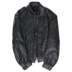 Beautiful Louis Vuitton Men's Jacket in black quilted calfskin, size 52 (L)