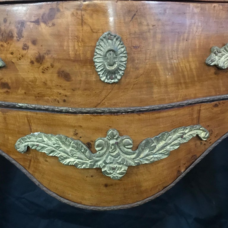 Mid-20th Century Beautiful Louis XV Petite Commode Nightstand or Side Table with Marble Top For Sale