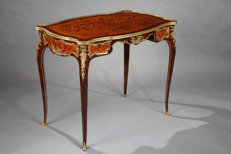 Late 19th Century Beautiful Louis XV Style Table Attributed to J.E. Zwiener For Sale