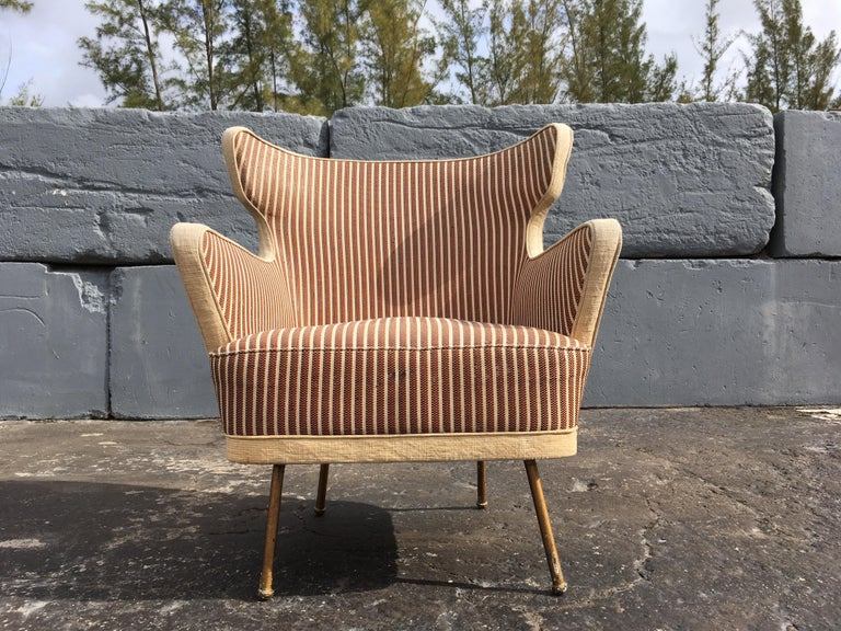 Beautiful Lounge Chairs in the Style of Gio Ponti For Sale 7