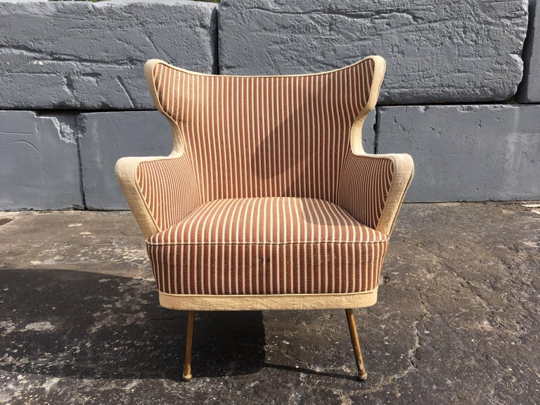 Beautiful Lounge Chairs in the Style of Gio Ponti For Sale 8