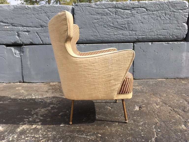 Italian Beautiful Lounge Chairs in the Style of Gio Ponti For Sale
