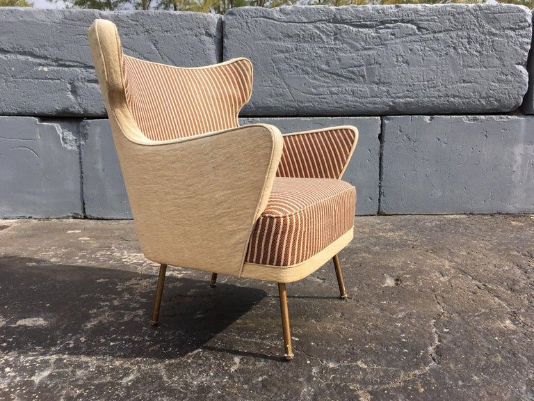 Beautiful Lounge Chairs in the Style of Gio Ponti In Fair Condition For Sale In Opa Locka, FL