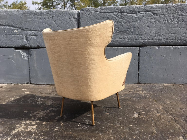 Beautiful Lounge Chairs in the Style of Gio Ponti For Sale 2
